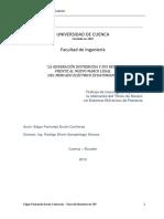 """""""LA GENERACIÓN DISTRIBUIDA Y SUS RETOS   FRENTE AL NUEVO MARCO LEGAL   DEL MERCADO ELÉCTRICO ECUATORIANO"""".pdf"""