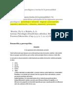 Procesos psicológicos y teorías de la personalidad