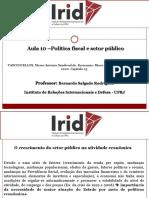Aula 10 - Política fiscal e setor público.pdf