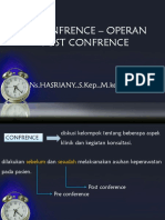 Pre-post confrece, ronde keperawatan (Pengorganisasian)