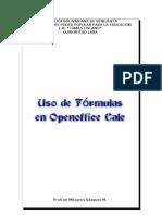Uso de fórmulas en Openoffice Calc