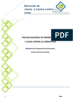 Política Nacional de Transparencia