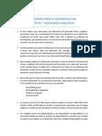 INDICACIONES PARA EL DESARROLLO DEL PROYECTO