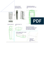 SolidWorks Create a Sagem MY X-5 CELLPHONE