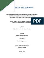 Formalización para el crecimiento y competitividad de la micro y pequeña empresa en el sector pesca artesanal en el puerto de Chorrillos, 2017