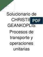 Solucionario de CHRISTIE GEANKOPLIS Procesos de Transporte y Operaciones Unitarias