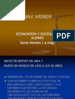 MAX WEBER1sonia romero 1 a.ppt