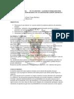 """"""" CALIDAD DE VIDA EN PACIENTES GASTRECTOMIZADOS POR LESIÓN MALIGNA COMPARADOS CON PACIENTES DE LESIÓN BENIGNA"""""""