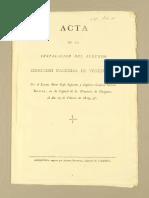 Acta Instalacion Segundo Congreso Nacional Venezuela. 1819