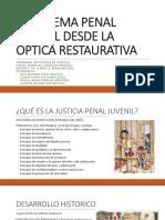 EL SISTEMA PENAL JUVENIL DESDE LA ÓPTICA RESTAURATIVA