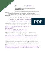 Astronomy 4 Homework Assignment 1