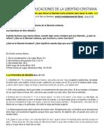 PRIVILEGIOS E IMPLICACIONES DE LA LIBERTAD CRISTIANA
