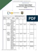 Agenda - EVALUACION DE IMPACTO AMBIENTAL - 2020 I PERIODO 16-01 (761)