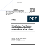DPO DPPA SRSG SVC OHCHR Policy on Field Missions Preventing and Responding to CRSV 2020