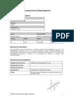 Documentacion de Requerimientos Configuración directas en PRD