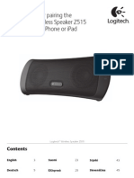 Wireless Speaker z515 iPad Pairing Addendum
