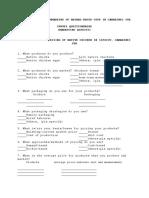questionnaire OTOP A