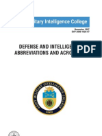 Defense Acronyms