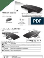 Uniden BTSC1500 Operating Manual