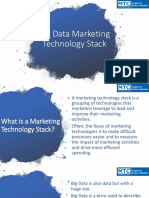 Big Data Marketing Technology Stack