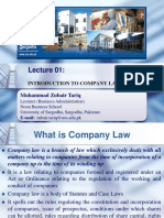 1. Introduction to Company Law