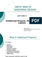 LECTURE 9 - Patents, Liability and ethics
