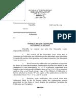 Ex Parte Motion to Declare Default