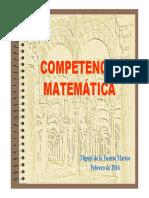 COMPETENCIA MATEMÁTICA EN PISA(hasta 2009)