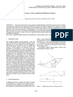Investigations on the accuracy of the simplified Bishop method Zhu 2008