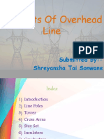 Line supports for overheadlines