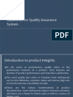 Guidelines for Quality Assurance System