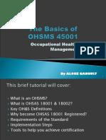 The Basics of ohsas