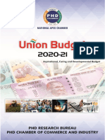 Union Budget 2020-21-Aspirational, Caring and Developmental Budget