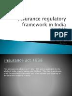 Insurance regulatory framework in India