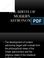 The birth of modern astronomy