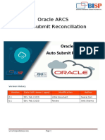 Oracle ARCS Auto Submit Reconciliation