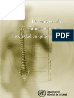 Formación en quiropráctica
