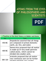 Atoms from the eyes of Philosophers and Scientists