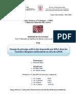 Dosage du principe actif et de - Hajar BENRZEIL_5329