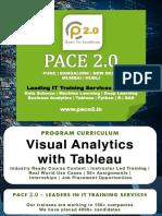 PACE 2.0 Syllabus Visual Analytics Tableau Program
