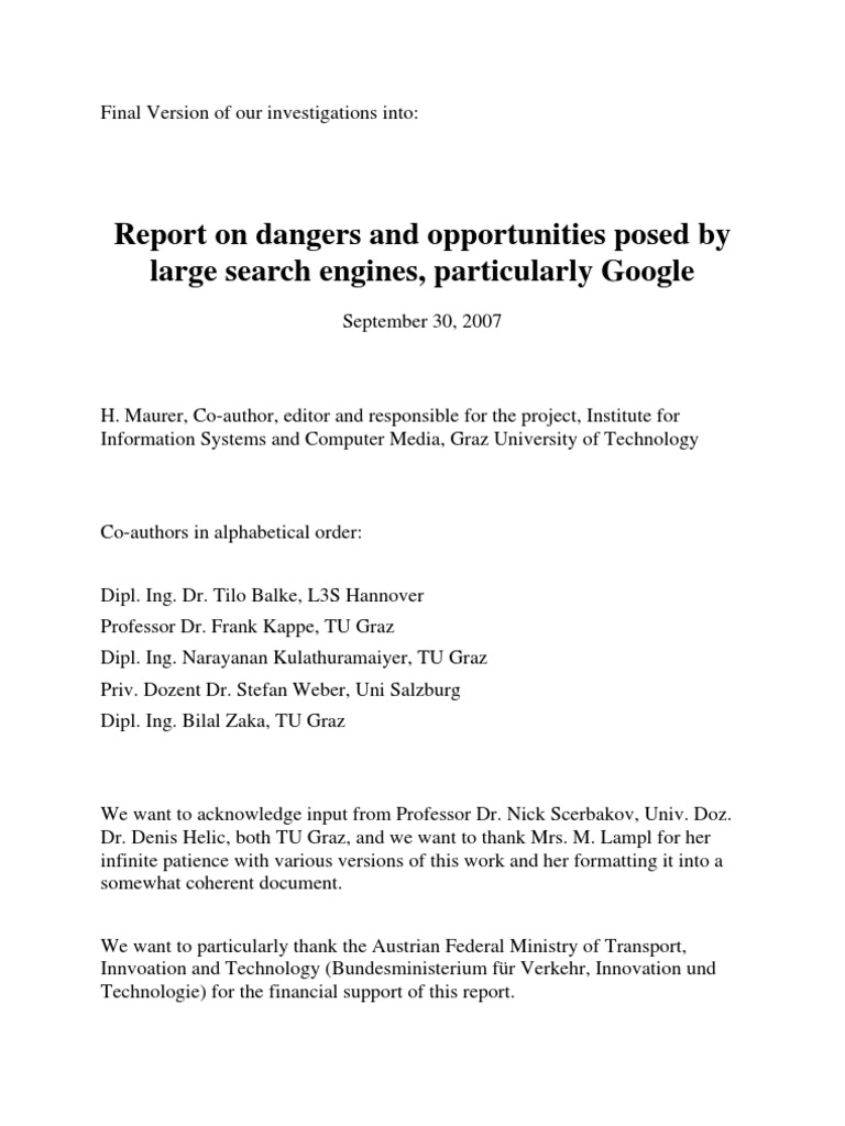 Google Should Be Stopped | Web Search Engine | Search Engine Optimization