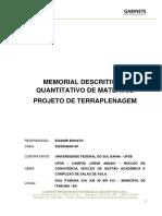 MODELO MEMORIAL DESCRITIVO TERRAPLANAGEM