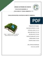 LEGISLACIÓN NACIONAL EN MATERIA DE IMPACTO AMBIENTAL