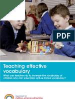 Teaching Effective Vocabulary