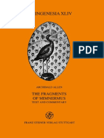 [Palingenesia 44] Mimnermus_ Allen, Archibald - The fragments of Mimnermus _ Text and commentary (1993, Franz Steiner Verlag).pdf
