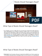 What Type of Books Should Teenagers Read