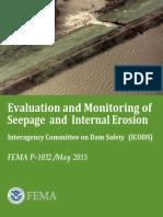 FEMA TM EvalMonitorSeepageInternalErosn P1032-2015.pdf