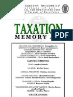 Taxation Memory Aid