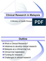 Clinical Research in Malaysia NIH 20081025 2