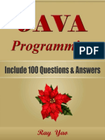 JAVA Programming, Include 100 Questions & Answers